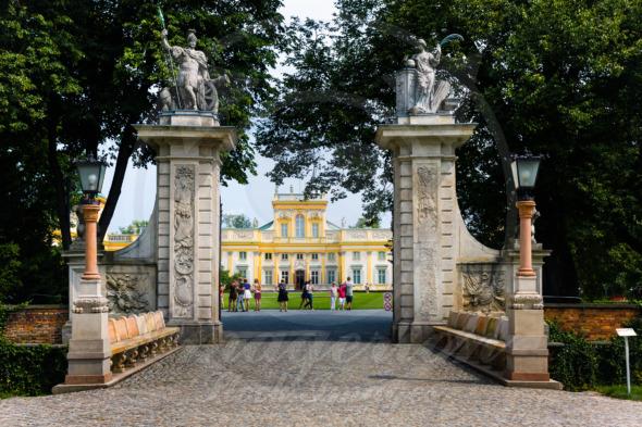 Wilanow Royal Palace park main entrance gate