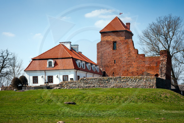 Medieval Castle in Liw Town, tourist attraction in Poland