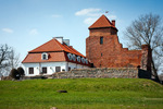 Image of stronghold. Medieval Castle in Liw Town, tourist attraction in Poland