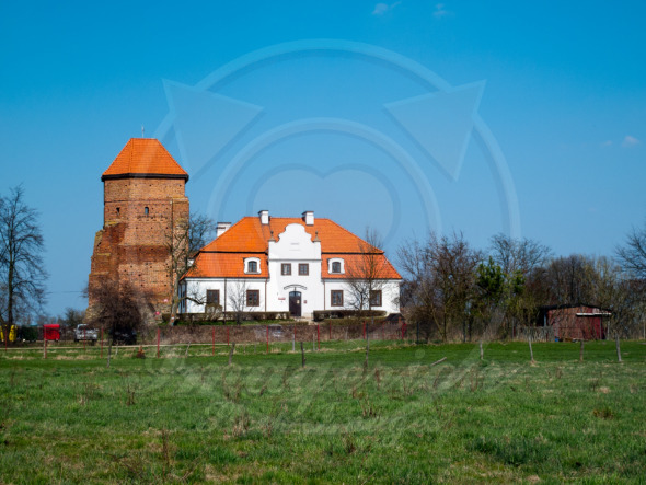 Medieval castle remains near Warsaw in Liw Town