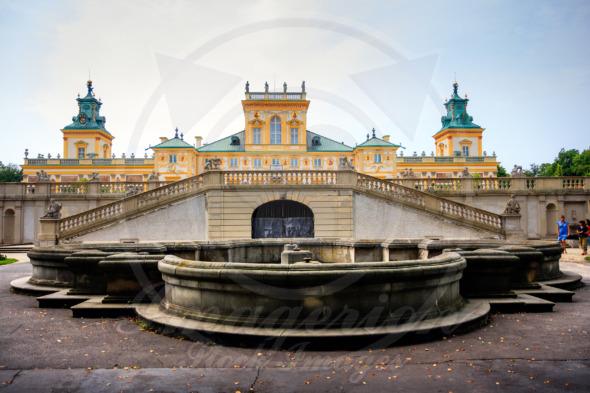 Fountain at the Wilanow Royal Palace, Warsaw