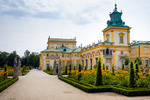 Image of path. Garden path in Wilanow Royal Palace gardens