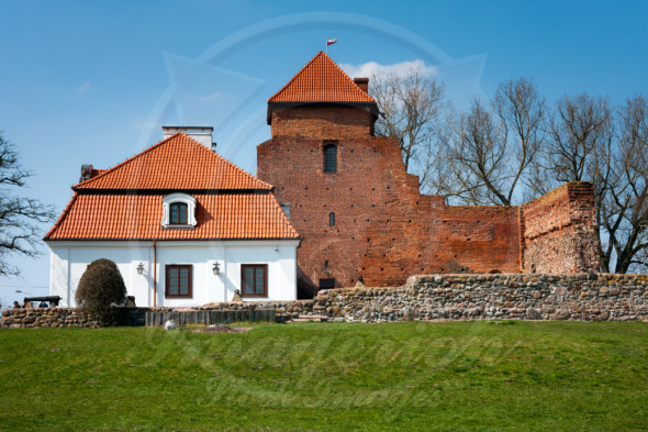 Medieval stronghold remains, castle museum in Liw Town, Poland