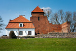 Image of stronghold. Medieval stronghold remains, castle museum in Liw Town, Poland