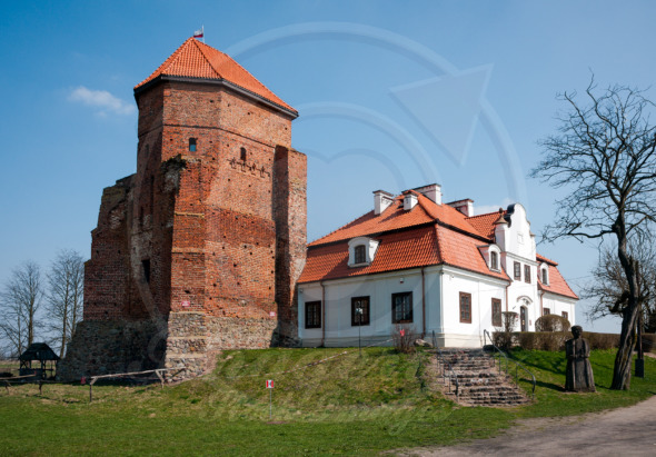 Liw medieval castle, landmark in Poland