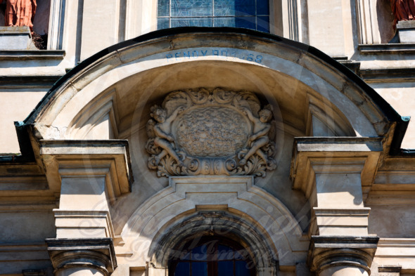 Basilica of Saints Philip Neri, architectural detail. Studzianna Poswietne