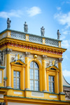 Image of palace. Wilanow Palace in Warsaw yellow facade architectural details