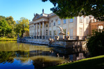 Image of sightseeing. Warsaw's Palace on Isle in Lazienki Royal Baths Park