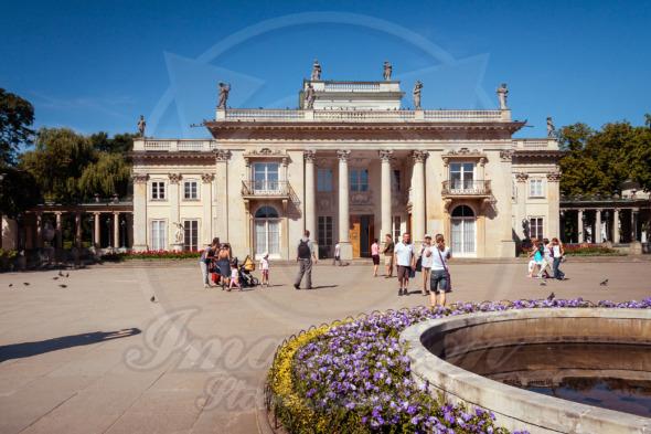 Warsaw Lazienki Palace. Popular tourist attraction