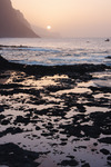 Image of light. Sunset on Santo Antao Island, Cape Verde