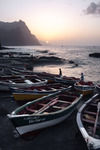 Image of boats. Fishing boats in Ponta do Sol at the beach of Santo Antao Island
