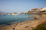 Image of marina. Boats and yachts in Marina of Sao Vicente island