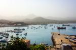 Image of port. Mindelo Porto Grande terminal of  Sao Vicente Island panorama