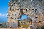 Image of Turkey. Ancient walls of ruins in Tlos City