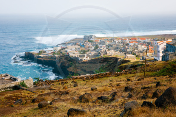 Ponta do Sol, Cape Verde. View of the fishing village on Santo Antao Island