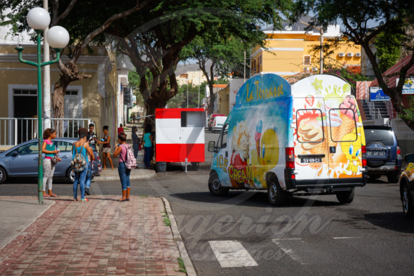 Ice Cream truck, life in the streets of Mindelo