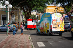 Image of street. Ice Cream truck, life in the streets of Mindelo