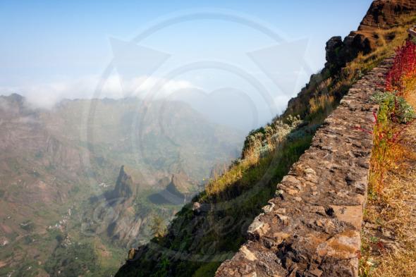 Cabo Verde landscape volcanic mountains of Santo Antao
