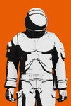 Image of eva. Astronaut space suit design line art, ready for Mars